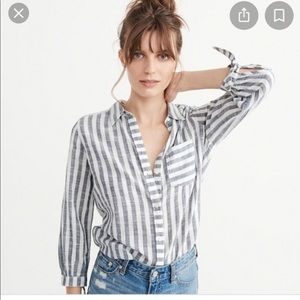 Abercrombie and Fitch Tie Sleeve Blouse